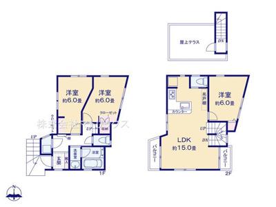 8号棟 参考プラン 3LDK+P 敷地面積 75.01㎡ 建物面積 75.69㎡