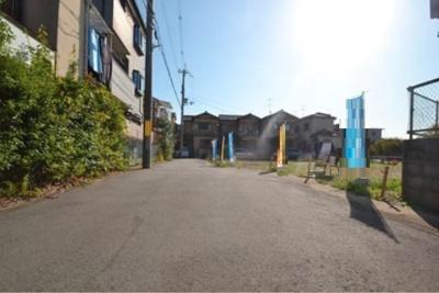 【前面道路含む現地写真】伏見区羽束師古川町 建築条件付売土地