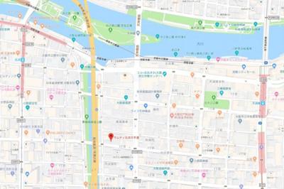 【地図】サムティ北浜大手通