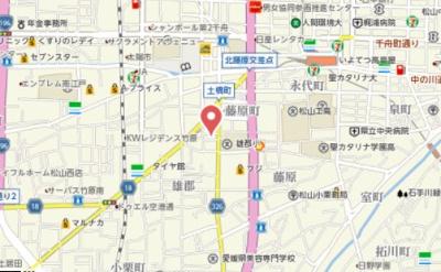 【地図】メゾン梓