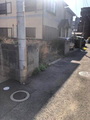 【前面道路含む現地写真】【売地】西和中学校区・56040