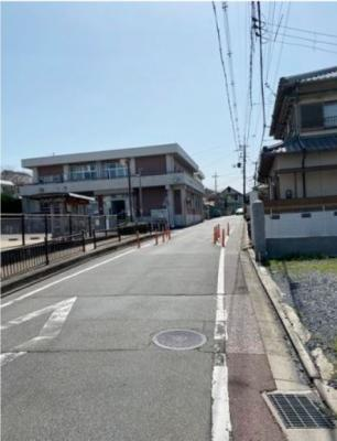 【前面道路含む現地写真】伏見区醍醐東合場町 建築条件無土地