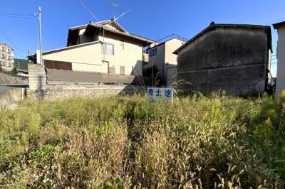 【前面道路含む現地写真】伏見区醍醐西大路町 注文建築 建築条件なし 土地