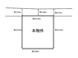 【土地図】伏見区醍醐西大路町 注文建築 建築条件なし 土地