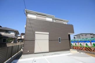 同社施工外観です 原田に新築出ました 2号棟 成約済 残1棟