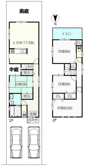 全居室6帖以上&収納完備、リビングダイニング広々17.5帖、ゆとりの4LDK