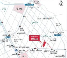 【地図】セキュレア古新田