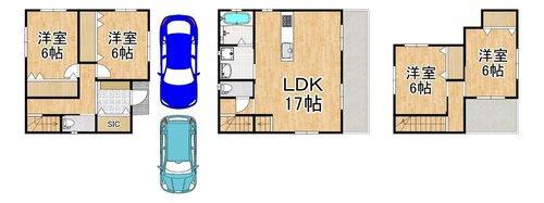 2号地 駐車3台プランもあります。