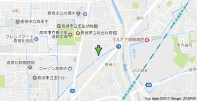 【地図】メゾンソレイユ1号館 (株)Roots