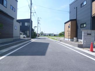 【前面道路含む現地写真】近江八幡市友定町 A号地 売土地