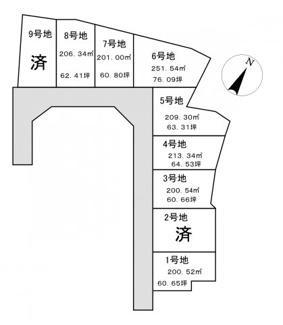 【土地図】ガーデンスクエア近江八幡Ⅱ【9区画】 6号地
