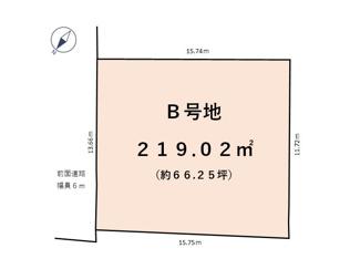 【土地図】近江八幡市友定町 B号地 売土地
