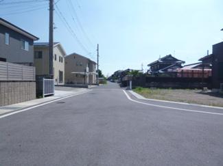 【前面道路含む現地写真】近江八幡市友定町 B号地 売土地
