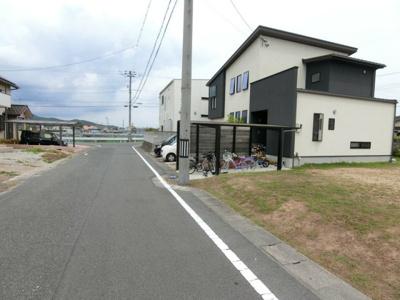【前面道路含む現地写真】浅口市金光町佐方ニュータウン 全110区画