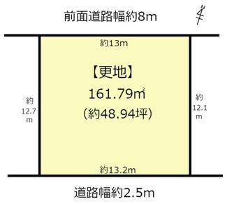 【土地図】近江八幡市土田町 売土地