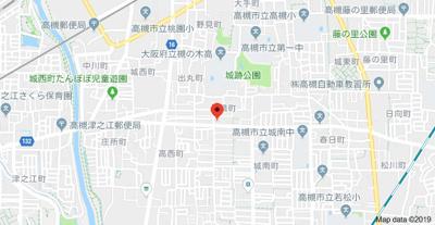 【地図】パステオ高槻 (株)Roots