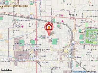 【地図】サニーハイツ西ノ京(旧サニーハイツイカイ)