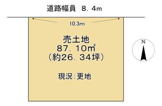 【土地図】近江八幡市安土町小中 売土地