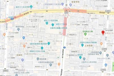 【地図】エスリード上本町北