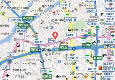 【地図】リーガル岡崎橋