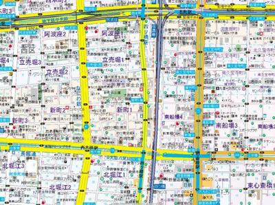 【地図】ノーブルスクエア新町