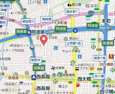 【地図】藤和阿波座コープ