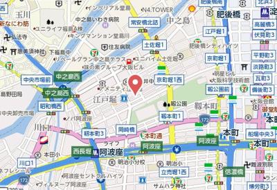 【地図】匠空KYOMACHIBORI