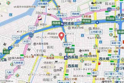 【地図】CITY SPIRE立売堀