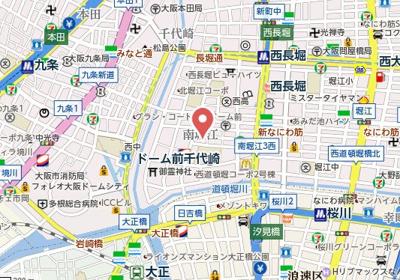 【地図】アバンティ南堀江イースト