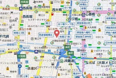 【地図】アドバンス心斎橋NEXTURE