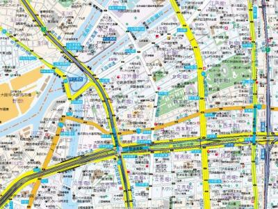【地図】アーバーネックス本町