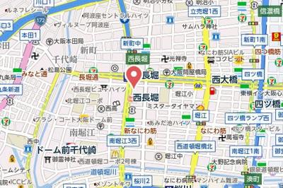 【地図】アーバネックス北堀江ll
