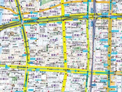 【地図】リーガル四ツ橋Ⅱ