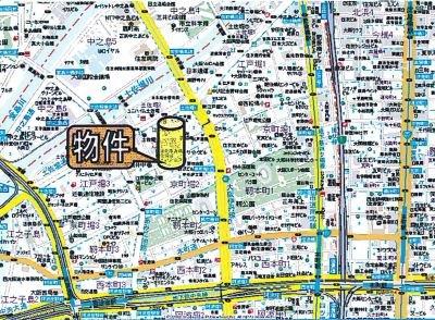 【地図】リーガル京町堀Ⅱ