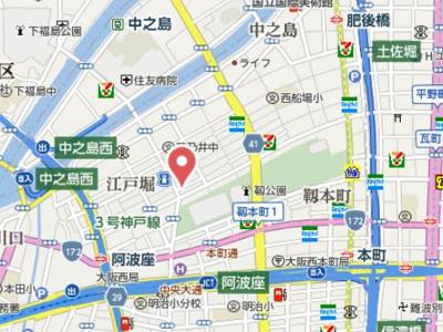 【地図】リーガル京町堀