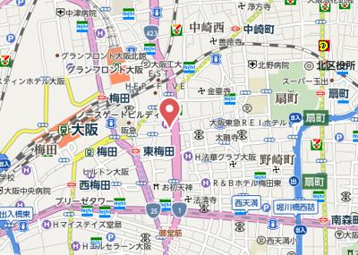 【地図】リーガル靭公園南Ⅱ
