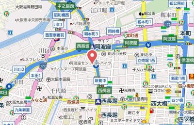 【地図】プレミュール阿波座