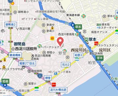 【地図】メゾン阪神