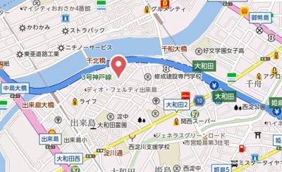 【地図】メープル大和田
