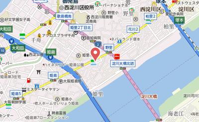 【地図】フジパレス姫里EAST