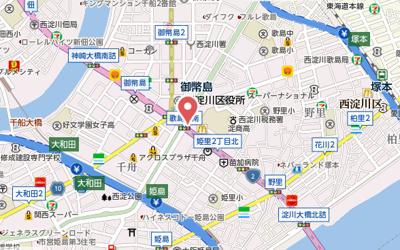 【地図】ファーストレジデンス大阪