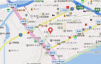 【地図】ブールバール福町