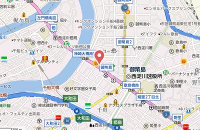 【地図】ディームス御幣島