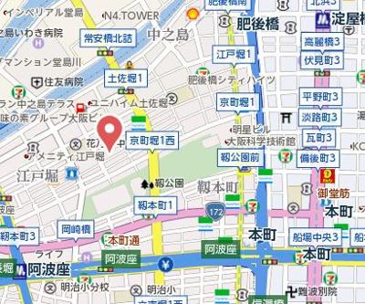 【地図】プリエール京町堀