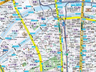 【地図】フォレシティ肥後橋