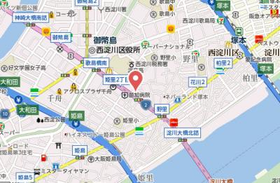 【地図】サムティ大阪CITYWEST