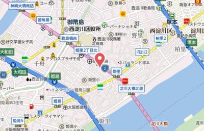 【地図】グレイスレジデンス大阪WEST