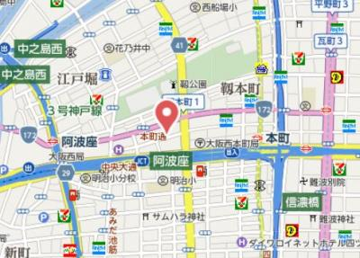 【地図】パークアクシス本町