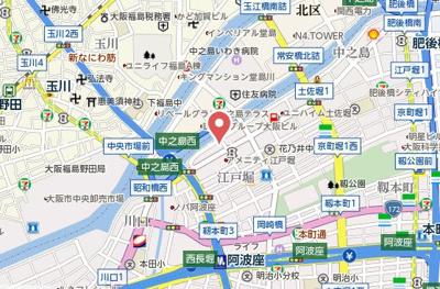 【地図】ZEUS西梅田プレミアム
