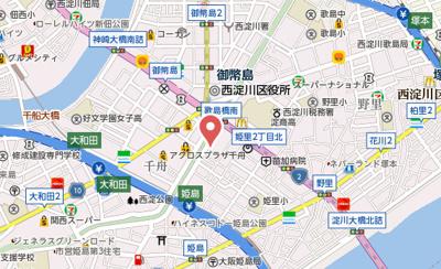 【地図】大阪WESTレジデンス